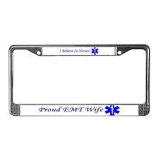 EMT Wife License Plate Frame