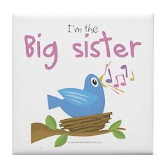 Songbird Big Sister Tile Coaster