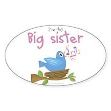 Songbird Big Sister Oval Decal