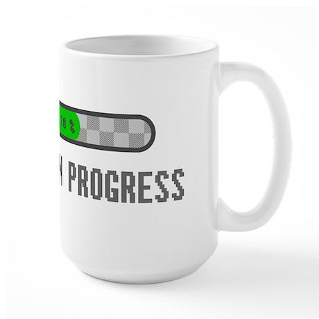 Chess - Thinking In Progress Large Mug