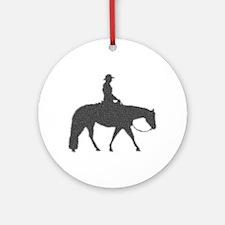 Male Pixel Pleasure Horse Ornament (Round)