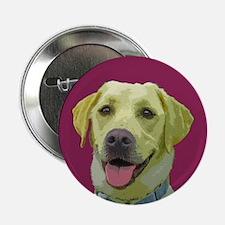 Grace the Yellow Labrador Button