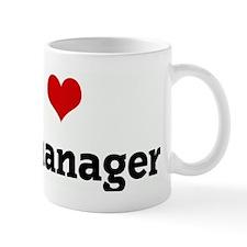 I Love my manager Small Mug