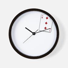 The Three of Diamonds Wall Clock
