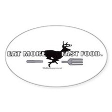 Eat More Fast Food Oval Sticker (10 pk)