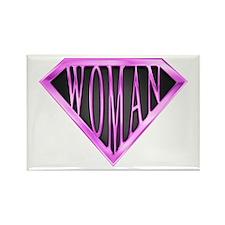 SuperWoman(Pink) Rectangle Magnet (100 pack)