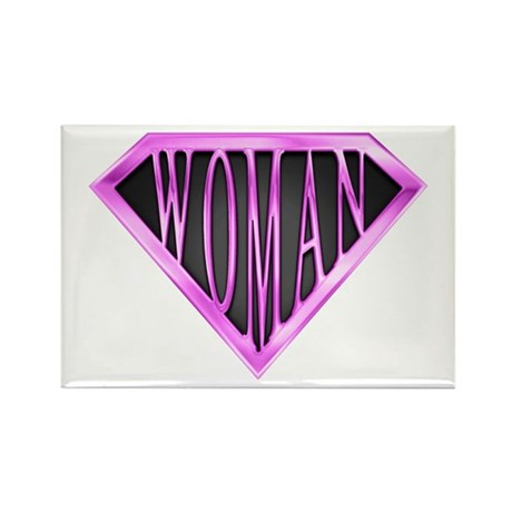 SuperWoman(Pink) Rectangle Magnet