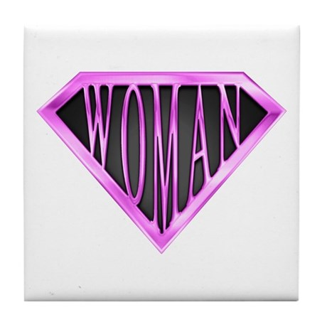 SuperWoman(Pink) Tile Coaster