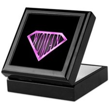 SuperWoman(Pink) Keepsake Box