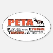 PETA Oval Decal