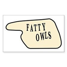 Fatty Owls Rectangle Decal