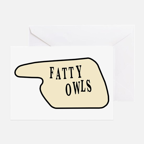 Fatty Owls Greeting Card