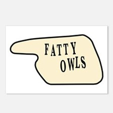 Fatty Owls Postcards (Package of 8)