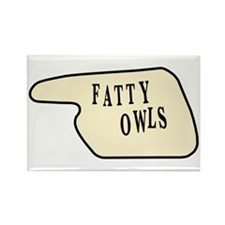 Fatty Owls Rectangle Magnet