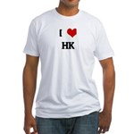 I Love HK Fitted T-Shirt