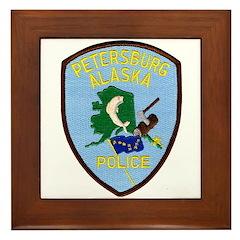 Petersburg Police Framed Tile