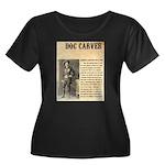 Doc Carver Women's Plus Size Scoop Neck Dark T-Shi