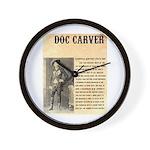 Doc Carver Wall Clock