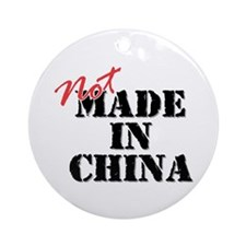 Not Made In China Ornament (Round)