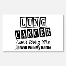 Lung Cancer Can't Bully Me Rectangle Sticker 10 p