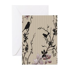 Birds & Cherry Blossoms Greeting Card