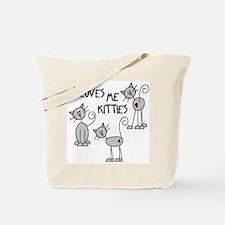 I Loves Me Kitties Tote Bag