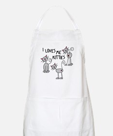 I Loves Me Kitties BBQ Apron