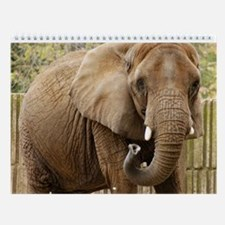 African Elephant Wall Calendar