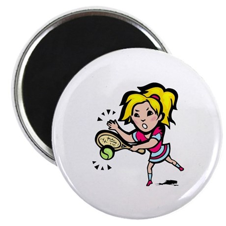 "Ladies Tennis 2.25"" Magnet (10 pack)"