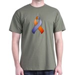 Orchid and Orange Awareness Ribbon Dark T-Shirt