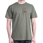 Orchid and Orange Awareness Ribbon Dark T-Shirt