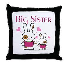 Bunnies Big Sister Throw Pillow
