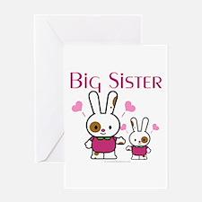 Bunnies Big Sister Greeting Card
