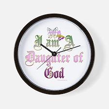 I AM A DAUGHTER OF GOD Wall Clock