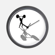Powerlifters Weighlifting Wall Clock