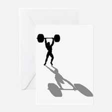 Powerlifters Weighlifting Greeting Card