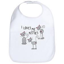 I Loves Me Kitties Bib