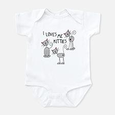 I Loves Me Kitties Infant Bodysuit