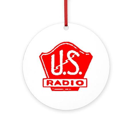 U.S. Radio Ornament (Round)