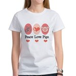 Peace Love Pigs Women's T-Shirt