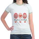 Peace Love Pigs Jr. Ringer T-Shirt