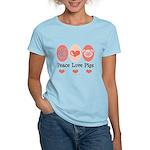 Peace Love Pigs Women's Light T-Shirt