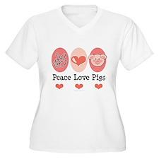 Peace Love Pigs T-Shirt