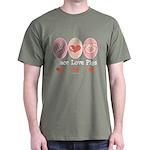 Peace Love Pigs Dark T-Shirt
