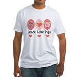 Peace Love Pigs Fitted T-Shirt