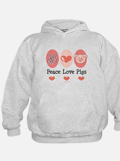 Peace Love Pigs Hoodie