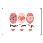 Peace Love Pigs Banner