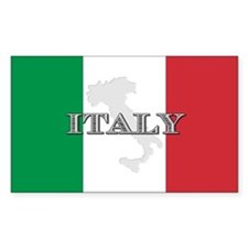 Italian Flag Extra Rectangle Decal