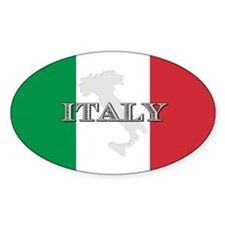 Italian Flag Extra Oval Decal