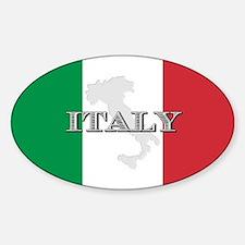 Italian Flag Extra Oval Decal